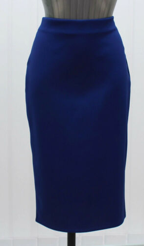 M/&s collection Tailles 6 8 10 Bleu Stretch Longueur Genou Moulante Jupe Crayon BNWT