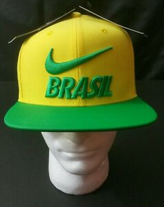 71a5bf37 Image is loading Nike-Brazil-Pride-Cap-2018-Yellow-Green-One-