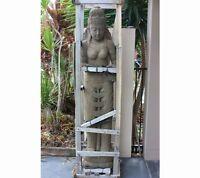 Buddha Naturstein 150 cm XXL Tara Bali Skulptur Steinfigur Brunnen Garten Teich