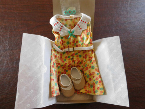 NIB American Girl KIT'S FLORAL PRINT DRESS Complete with Shoes & Barrette NEW