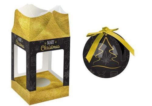 Boule de Noël noir Mary Christmas chanvre grinder bong sapin boule