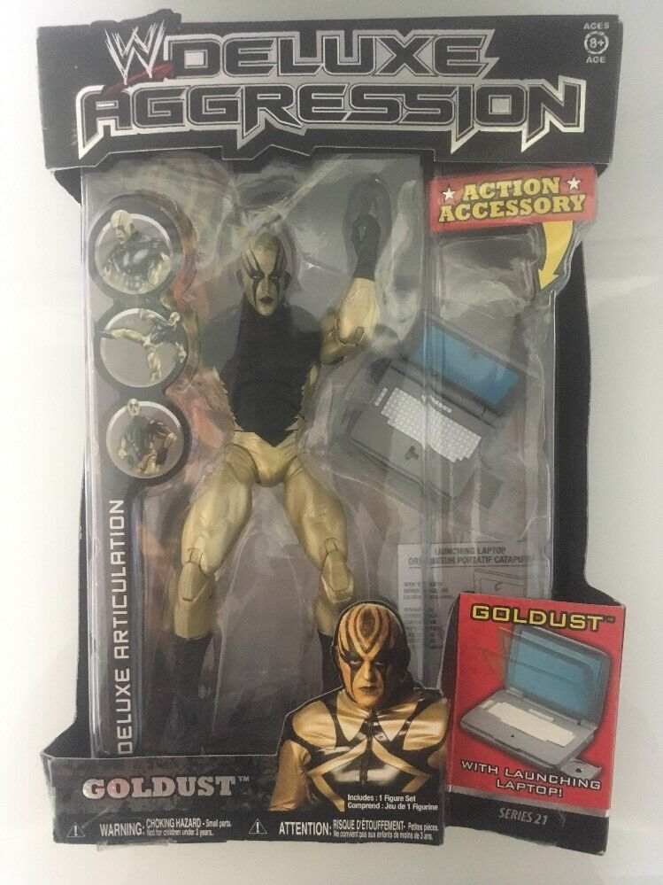 WWE Deluxe Aggression Series 21 goldust Figure New Boxed Jakks