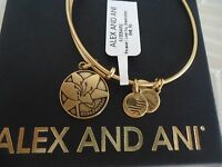 Alex And Ani Because I Love You Grandmother Russian Gold Bangle Card & Box