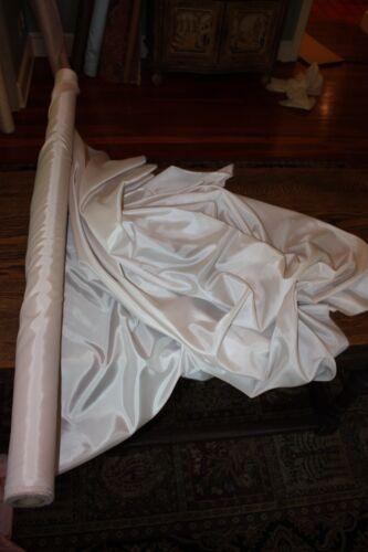 "25 Yds Wedding Draping Material Fabric Antique White Cream Solid Taffeta 60/"""