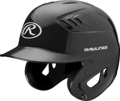 CFABHN-B-90 Large 7-3//8 to 7-1//2 Rawlings COOLFLO Gloss Black Batting Helmet