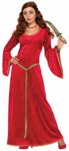 Ruby Red Sorceress Renaissance Lady Adult Costume Dress Women Princess Medieval