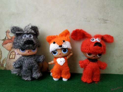 handmade clothes 6 styles animal costume for LoL surprise LoL doll outfit