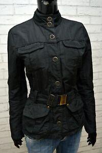MARLBORO-CLASSICS-Giacca-Nera-Donna-Taglia-42-S-Giubbino-Jacket-Women-039-s-Cappotto