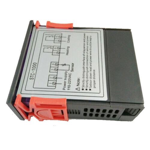 AC//DC 110V Dual Digital PID Temperature Controller Thermostat