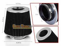 3 Cold Air Intake Filter Universal Black For Gmc W/v Series Forward Suburban