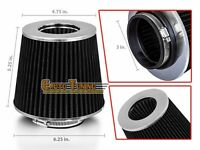 3 Cold Air Intake Filter Universal Black For Camiones/cube/d21/frontier/hikari