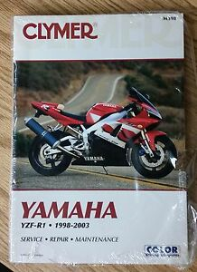 clymer service repair manual for yamaha yzf r1 m398 ebay rh ebay com 2002 r1 manual 2007 r1 manual