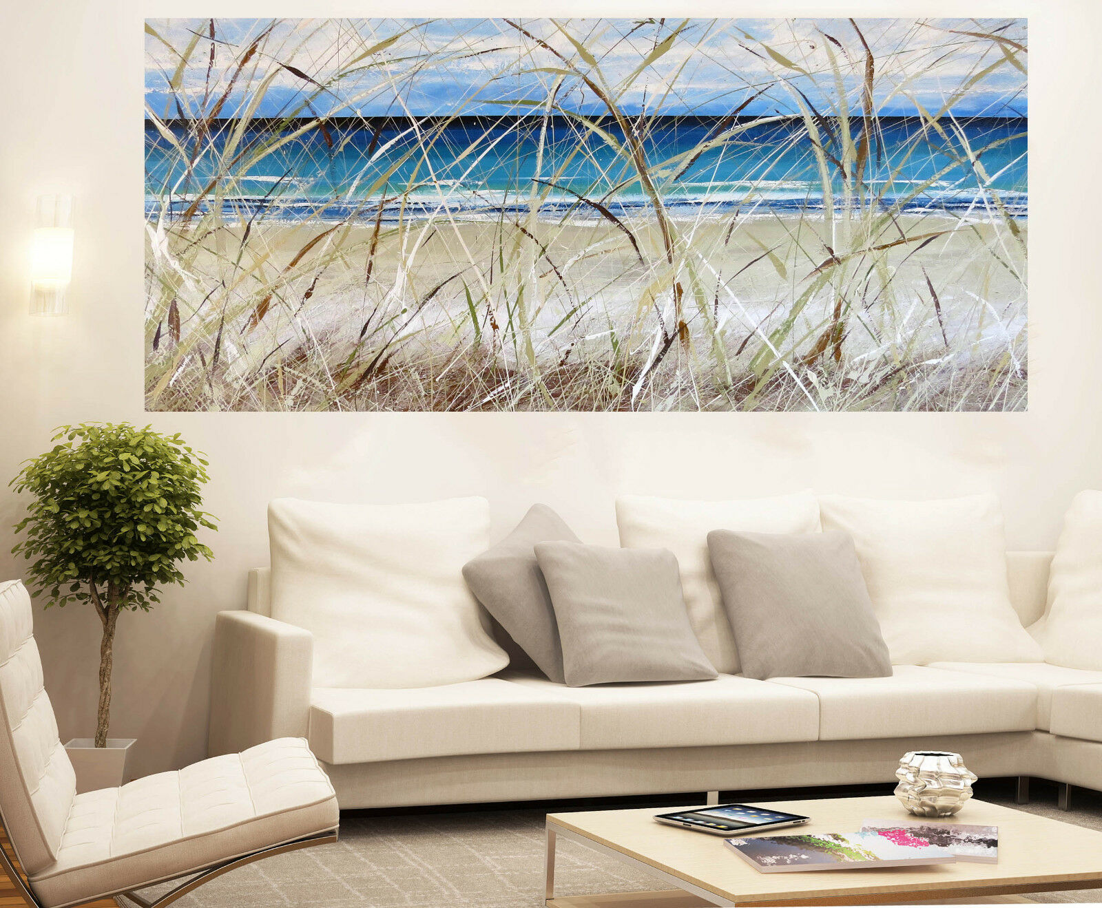 36  Byron Bay Seascape Beach Art Painting Print Canvas Andy Baker Australia