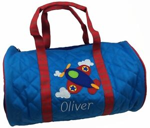 Image Is Loading Personalised Childrens Toddler 039 Airplane Duffle Bag