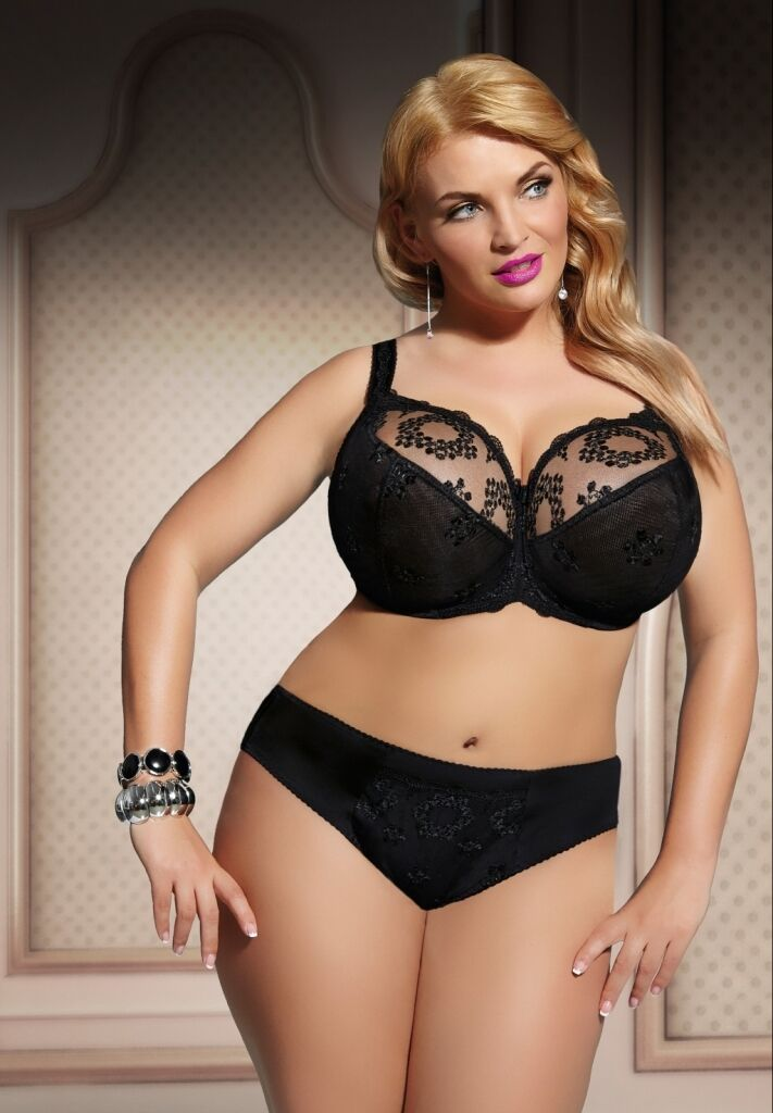 ! NEW ! Fortuna Black Soft Bra by Kris Line (Kris & EU sizing)