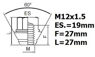 Tuercas de Bloqueo de Rueda M12x1,5 Tornillos Antirrobo Para Aleaciones Ford C-Max 2004
