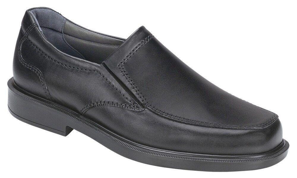 SAS Men's Diplomat nero Leather Slip-on Comfort scarpe