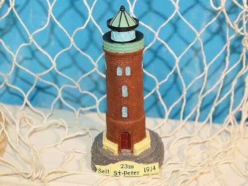 11 cm Polystone Peter ca Maritime Dekoration Leuchtturm St Leuchttürme