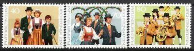 Postfrisch Liechtenstein Nr 754/56 ** Tanztrachten Ii 1980