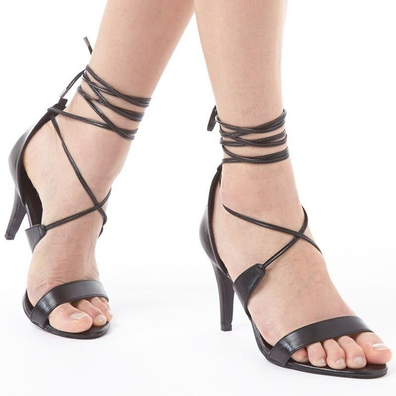 Feud Womens Mindy Strappy Sandals, Black, UK 4 EU 37, BNIB, RRP £49.99