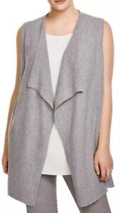 2X-298-New-Eileen-Fisher-Smoke-Washable-Wool-Crepe-Rib-Drape-Front-Vest