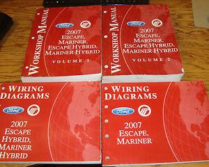 2007 Ford Escape Mariner Hybrid Shop Service Manual Vol 1 ...