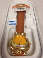 GARFIELD Rare Vintage Armitron The Cat Face Collector's Leather Watch