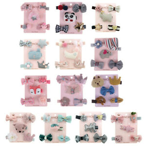 5Pcs-set-kids-girls-cartoon-animal-hairpin-hair-clips-baby-hair-accessories-BP