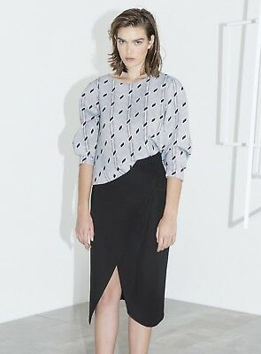 Clothing, Shoes & Accessories Bnwt Cameo C/meo Collective Fall Back Skirt Black Size M Rrp $169.95 Factory Direct Selling Price