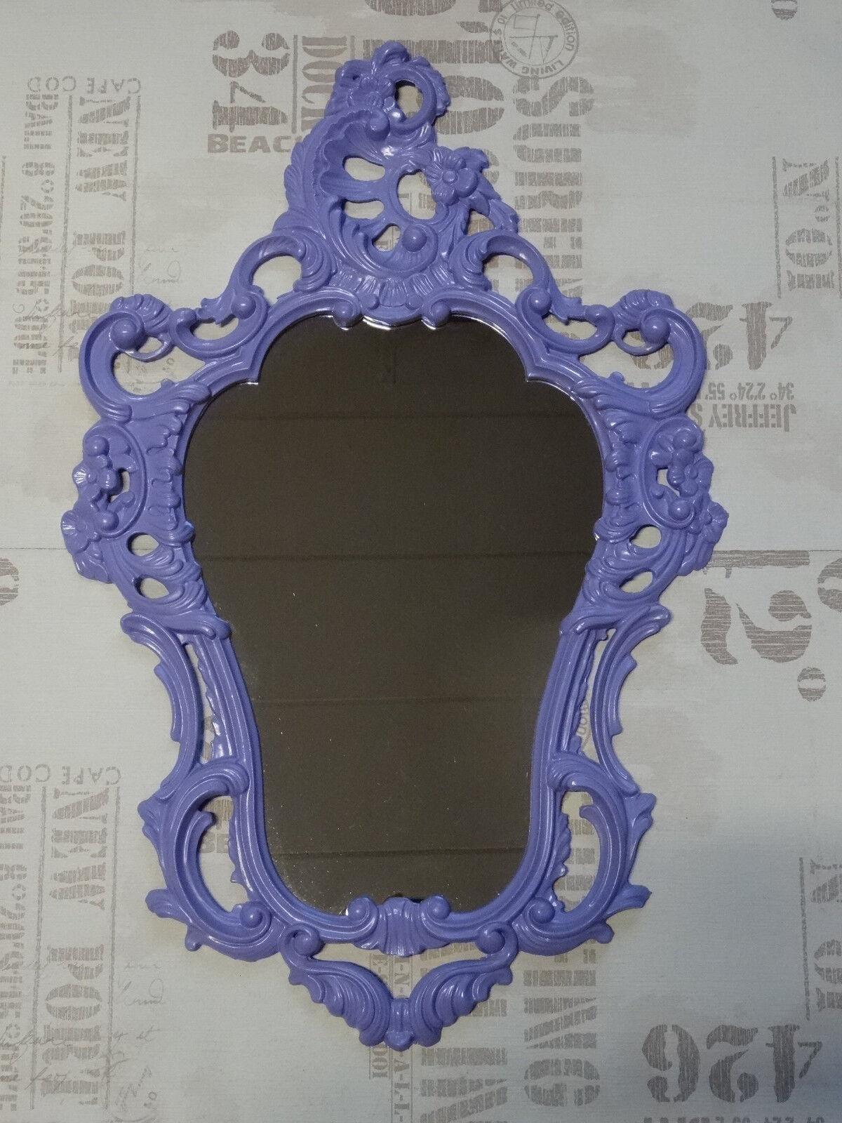 EXCLUSIF (Ve) Miroir mural mauve REPRO Baroque Ancien 50X76 décoration 118