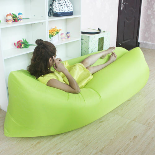 Inflatable Air Sofa Bed Lazy Sleeping Camping Bag Beach Hangout