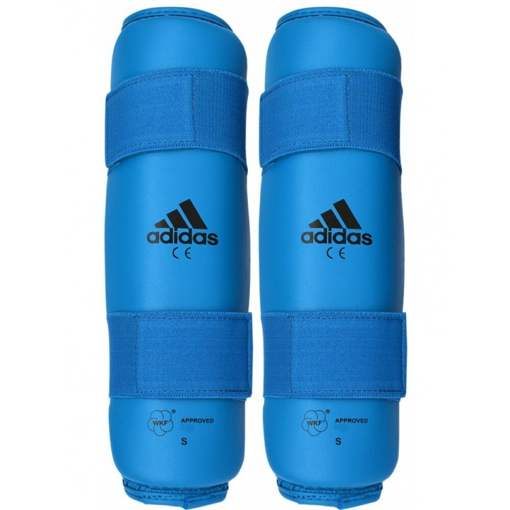 New adidas Karate Shin Predector Leg Guard Sparring Gear WKF Approved-RED, blueE