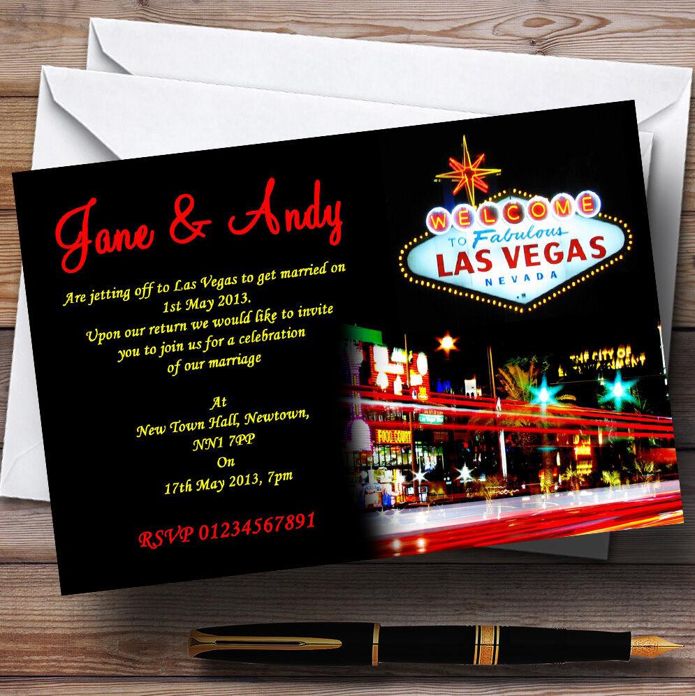 Las Vegas Strip Personalizado Invitaciones De Boda