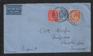 Kenya-amp-Uganda-1932-KGV-Airmail-65c-cover-Kiambu-to-UK-WS13291