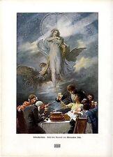 Silvesterfeier Nach einem Aquarell von Alexander Zick Engel-Motiv Kunstdruck1908