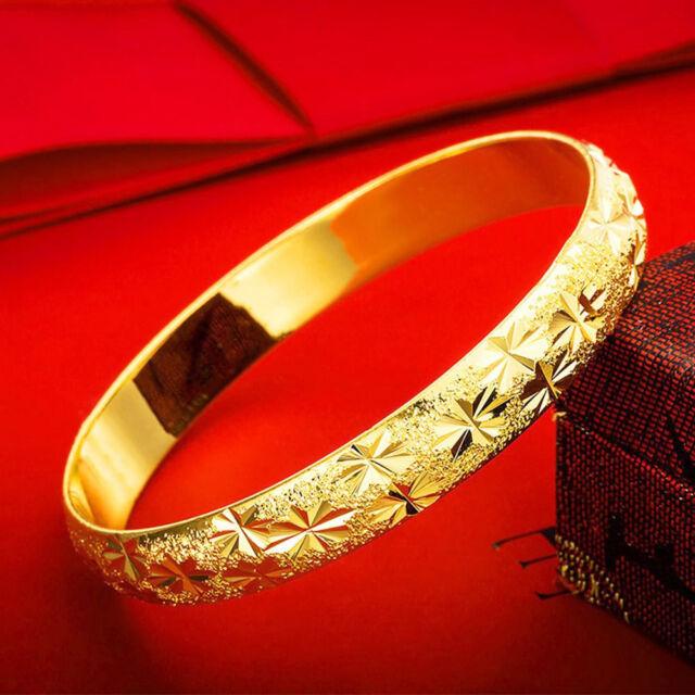 f4df38f3be1c4 2 Pc. Set 18k Gold Women's Opening Bracelets Bangle 7