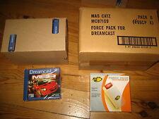 caisse 10x Metropolis street racer+ Caisse 6x pack vibration Sega Dreamcast NEUF