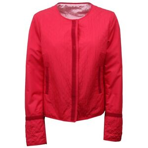D5190-giacca-donna-LES-COPAINS-BLUE-rosso-red-jacket-woman