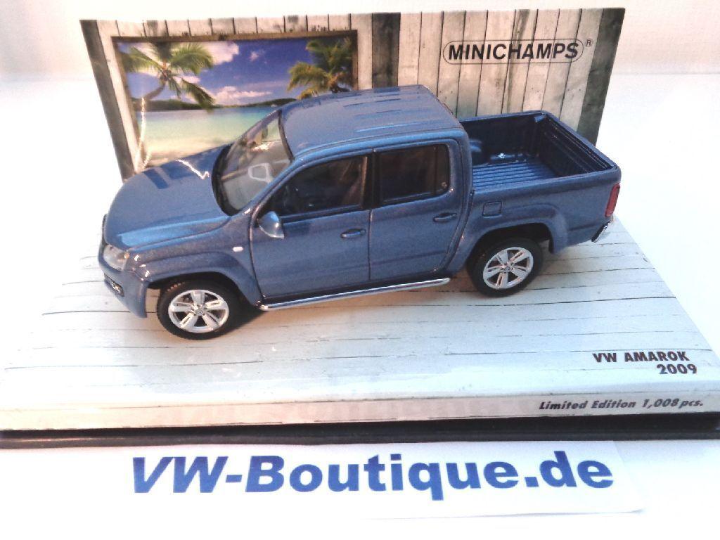 VW AMAROK AMAROK AMAROK De Minichamps Dans 1 43 Bleu métallisé NEUF 436058362 bc69be