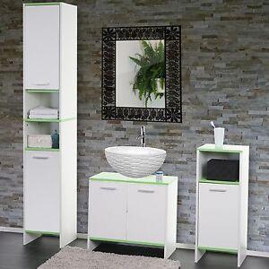 Arredo bagno serie Arezzo sottolavabo+mobile alto+mobiletto ~ bianco ...