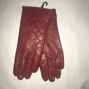 Giromy-Samoni-Women-s-Dark-Red-Leather-Gloves