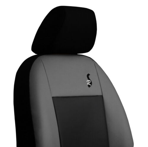 ECO LEATHER TAILORED SEAT COVERS FOR FORD TRANSIT CUSTOM DOUBLE CAB 2013 ONWARDS