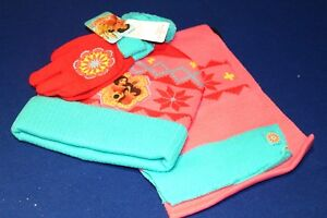 Disneys Elena of Avalor Girls 4-16 Fleece-Lined Knit Hat /& Gloves Set