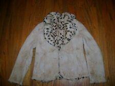 GORGEOUS Women's sand soft leather animal print fur lined Jacket NICOLA BERTI L