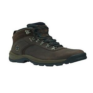 df9089b1c00 Timberland Flume Mid Waterproof Dark Brown Mens Leather Laced Hiking Ankle  BOOTS UK 10