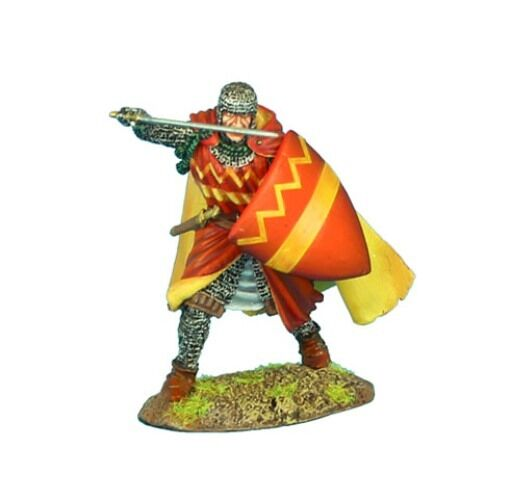 FIRST LEGION CRU071 - Crusader Knight with Cloak with Sergines Family Heraldry