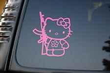 Hello Kitty Pink Vinyl Sticker Decal AK-47 NRA AR-15 (V58) Cute Gun Boat Truck