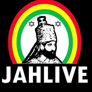 """2.5"""" STICKER DECAL Zion Roots Rasta Reggae Haile Selassie JAH LIVE Lion of David"""