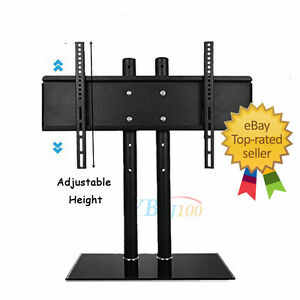 table top tv stand swivel universal replacement tabletop tv base stand mount ebay. Black Bedroom Furniture Sets. Home Design Ideas