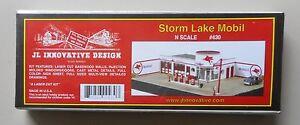 STORM-LAKE-MOBIL-GAS-STATION-KIT-N-SCALE-DIORAMA-LAYOUT-JL-INNOVATIVE-430